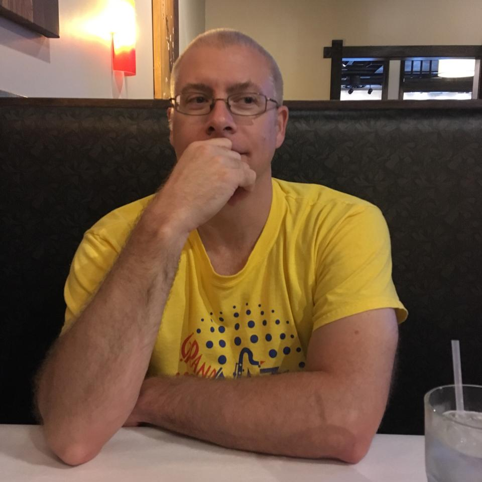 John Winkelman in a diner in San Francisco